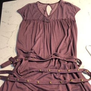 Dresses & Skirts - Light Purple Midi Dress with Tie Belt